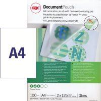 GBC HeatSeal fényes lamináló fólia - 216 x 303 mm méretű (A/4) - 2 x 125 mikron vastagságú, 100 ív / csomag (GBC 3200723)