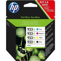 HP C2P42AE No. 932XL fekete + 933XL cyan, magenta, yellow egy csomagban (Hewlett-Packard C2P42AE)