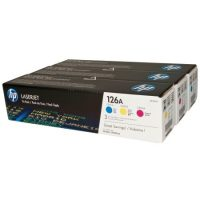 HP CF341A toner cartridge (126A) pack - cyan, magenta, yellow (Hewlett-Packard CF341A)