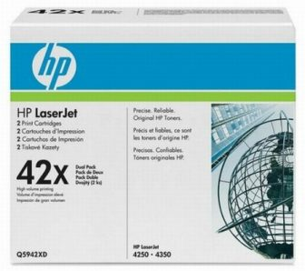 HP Q5942XD toner cartridge pack - 2 x HP Q5942X toner - fekete (Hewlett-Packard Q5942XD)
