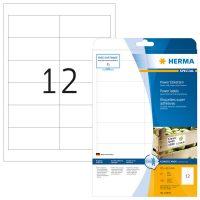 Herma 10907 fehér színű öntapadó etikett címke