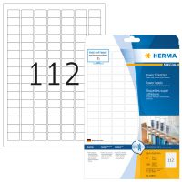 Herma 10916 fehér színű öntapadó etikett címke