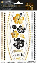 """Herma Flash Tattoo No. 15156 öntapadó tetoválás matrica """"Flower"""" motívumokkal."""
