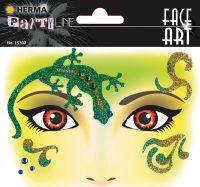 """Herma Face Art No. 15302 öntapadó arc matrica """"Gecko"""" motívumokkal."""