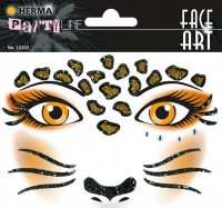 """Herma Face Art No. 15303 öntapadó arc matrica """"Leopard"""" motívumokkal."""