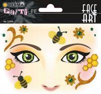 """Herma Face Art No. 15304 öntapadó arc matrica """"Honey Bee"""" motívumokkal."""