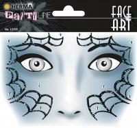 "Herma Face Art No. 15305 öntapadó arc matrica ""Spider"" motívumokkal."