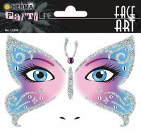 "Herma Face Art No. 15308 öntapadó arc matrica ""Butterfly"" motívumokkal."