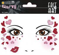 "Herma Face Art No. 15309 öntapadó arc matrica ""Love"" motívumokkal."