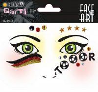 """Herma Face Art No. 15312 öntapadó arc matrica """"Germany"""" motívumokkal."""