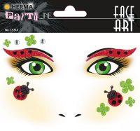 """Herma Face Art No. 15314 öntapadó arc matrica """"Ladybird"""" motívumokkal."""