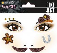 """Herma Face Art No. 15315 öntapadó arc matrica """"Cowboy"""" motívumokkal."""