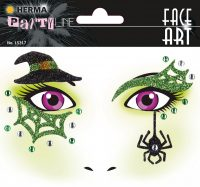 """Herma Face Art No. 15317 öntapadó arc matrica """"Witch"""" motívumokkal."""