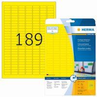 Herma 4243 sárga színű öntapadós etikett címke