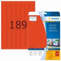 Herma 4244 piros színű öntapadós etikett címke