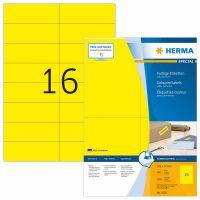 Herma 4256 sárga színű öntapadós etikett címke