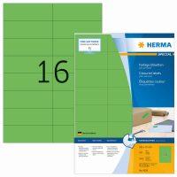 Herma 4259 zöld színű öntapadós etikett címke