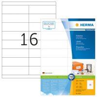 Herma 4264 fehér színű öntapadós etikett címke