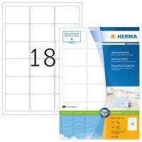 Herma 4265 fehér színű öntapadós etikett címke