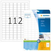 Herma 4334 fehér színű öntapadós etikett címke