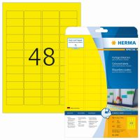 Herma 4366 sárga színű öntapadós etikett címke