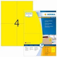 Herma 4396 sárga színű öntapadós etikett címke