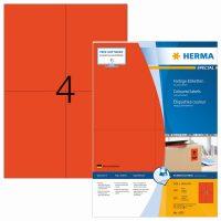 Herma 4397 piros színű öntapadós etikett címke
