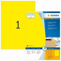 Herma 4401 sárga színű öntapadós etikett címke