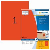 Herma 4402 piros színű öntapadós etikett címke
