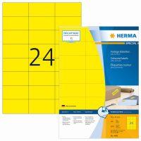 Herma 4406 sárga színű öntapadós etikett címke