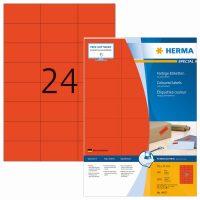 Herma 4407 piros színű öntapadós etikett címke