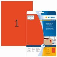 Herma 4422 piros színű öntapadós etikett címke
