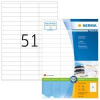 Herma 4459 fehér színű öntapadós etikett címke