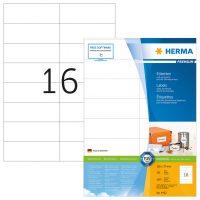 Herma 4462 fehér színű öntapadós etikett címke