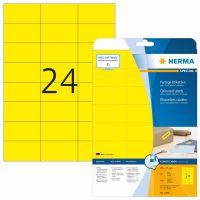 Herma 4466 sárga színű öntapadós etikett címke