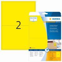 Herma 4496 sárga színű öntapadós etikett címke