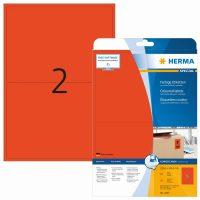 Herma 4497 piros színű öntapadós etikett címke
