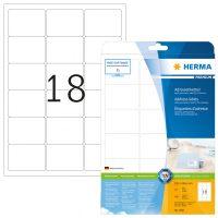 Herma 4501 fehér színű öntapadós etikett címke