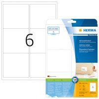 Herma 4502 fehér színű öntapadós etikett címke