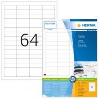 Herma 4607 fehér színű öntapadós etikett címke
