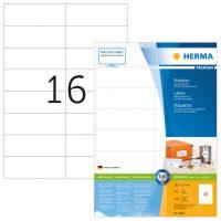 Herma 4620 fehér színű öntapadós etikett címke