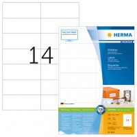 Herma 4625 fehér színű öntapadós etikett címke