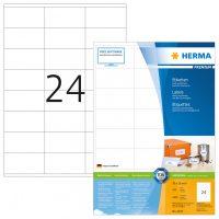 Herma 4633 fehér színű öntapadós etikett címke