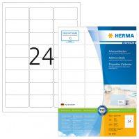 Herma 4645 fehér színű öntapadós etikett címke