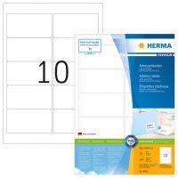 Herma 4667 fehér színű öntapadós etikett címke