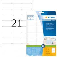 Herma 5029 fehér színű öntapadós etikett címke