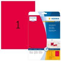 Herma 5048 neon piros színű öntapadó etikett címke