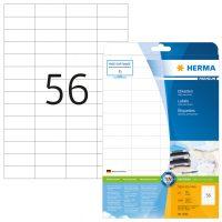 Herma 5052 fehér színű öntapadós etikett címke