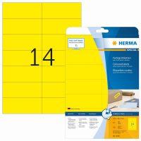 Herma 5058 sárga színű öntapadós etikett címke