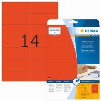 Herma 5059 piros színű öntapadós etikett címke